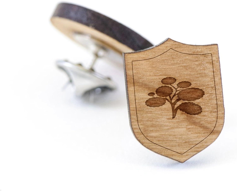 Wooden Pin Cottonwood Lapel Pin