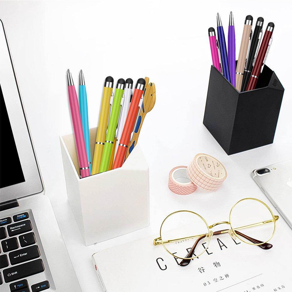 PROKING stylus003 Pennino capacitivo e penna a sfera 2 in 1 per dispositivi touch screen Confezione da 12 Pezzi Multicolore