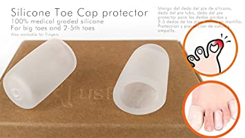 USFOOT® 100% Silicone Toe Cap protector, Finger Cap protector, Toe protector tube
