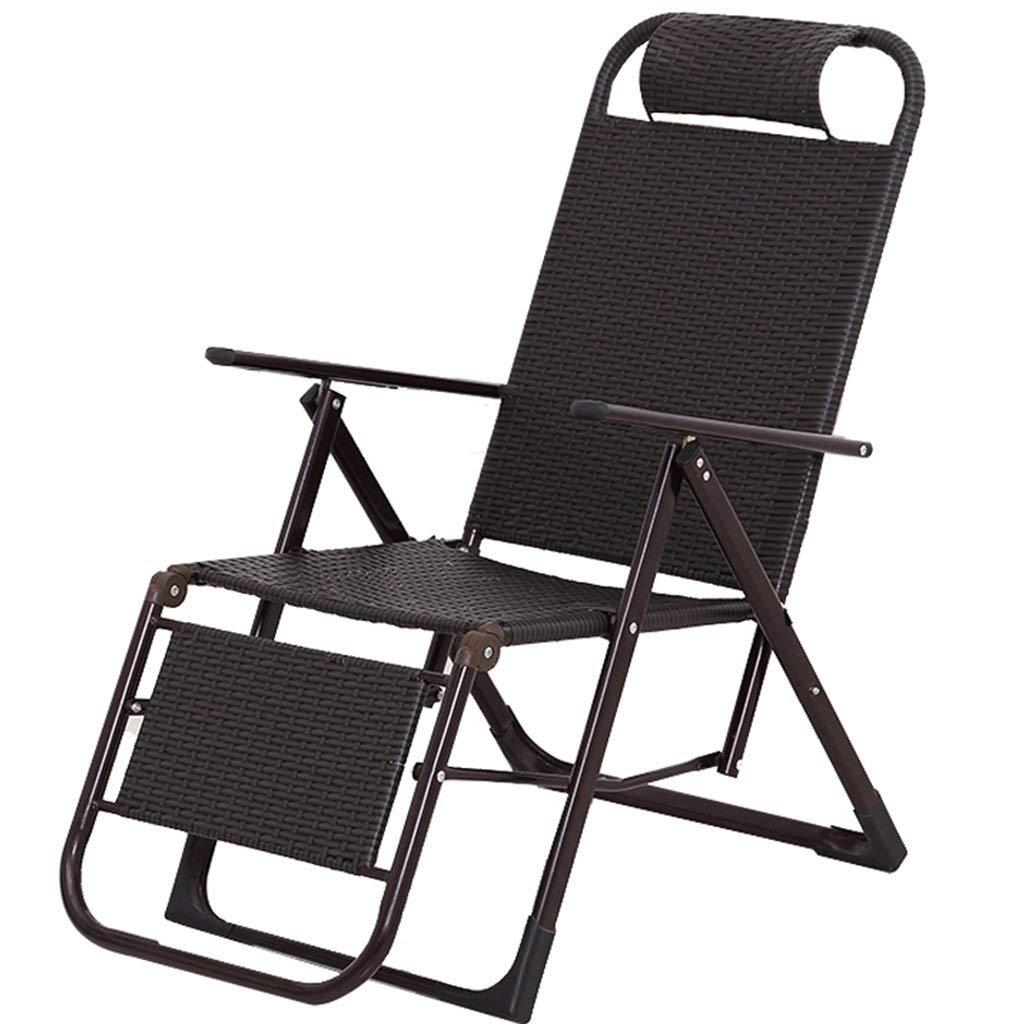 籐チェアリクライニングチェア昼休み折りたたみ椅子オフィスシエスタチェア家庭用バルコニー怠惰なロッキングチェアホームまたは屋外用ポータブルアームチェアラタンラウンジチェアブラック,a B07T2XHWG5 a
