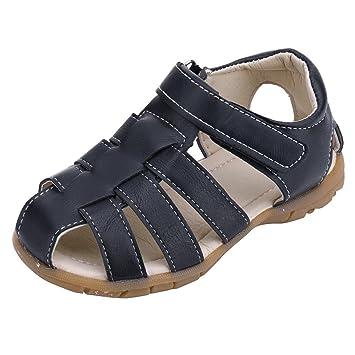 6c16aab4e86b Amazon.com   Lanhui Baby Kids Sandals Boy Sneakers Soft Sole Summer Beach  Toddler Shoes (Navy