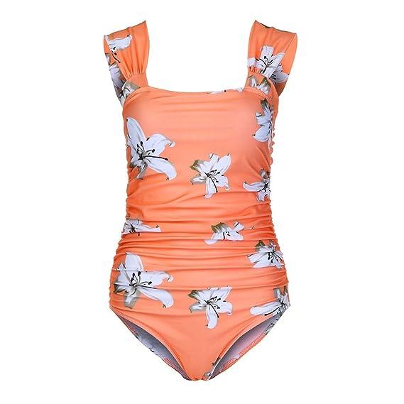 823b175fd63f Whitegeese Maternity Tankinis Mujer Sólido Bikinis Volantes Traje de ...