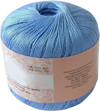 Hilo de algodón mercerizado para bordar, ganchillo, para tejer, joyería de encaje. - geshiglobal. 07#: Amazon.es: Hogar