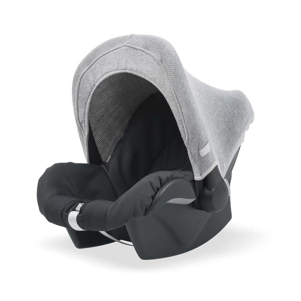 Jollein 545-001-65084 Verdeck für Babyschale 0+ natural knit grau