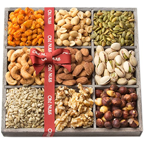 Holiday-Nuts-Gift-Basket-9-Variety-Mixed-Nut-Assortment-Wood-Tray-Baskets-Gourmet-Christmas-Freshly-Roasted-Healthy-Food-Care-Package-for-Corporate-Mothers-Fathers-Day-or-Thanksgiving-Oh-Nuts