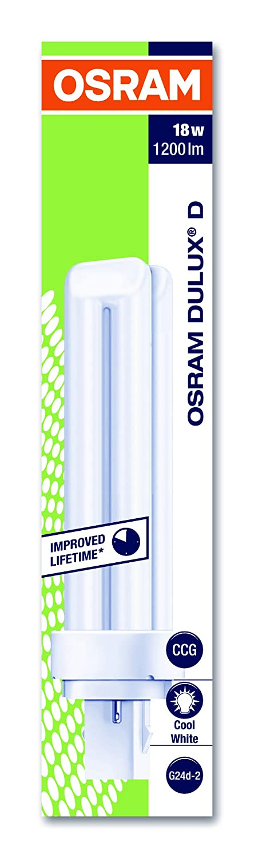 Osram Dulux D 18W//840 Lampada fluorescente compatta