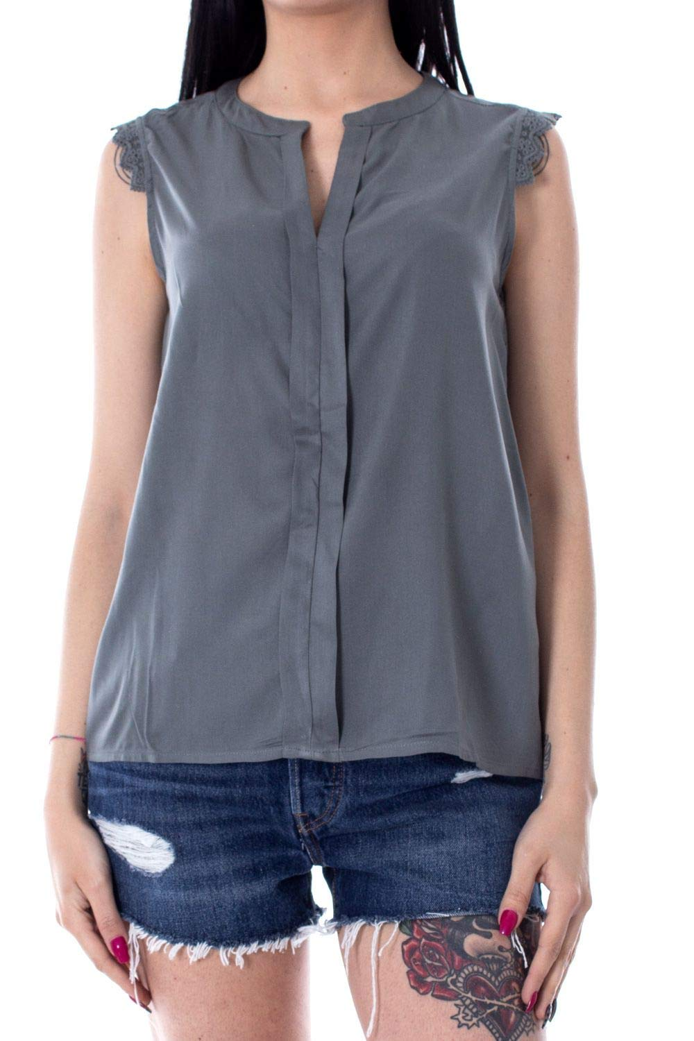 Only Women's 15157656GREY Grey Viscose Tank Top