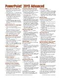 Microsoft PowerPoint 2013 Advanced Quick Reference Guide (Cheat Sheet of Instructions, Tips and Shortcuts - Laminated Card), Beezix Inc., 1936220881