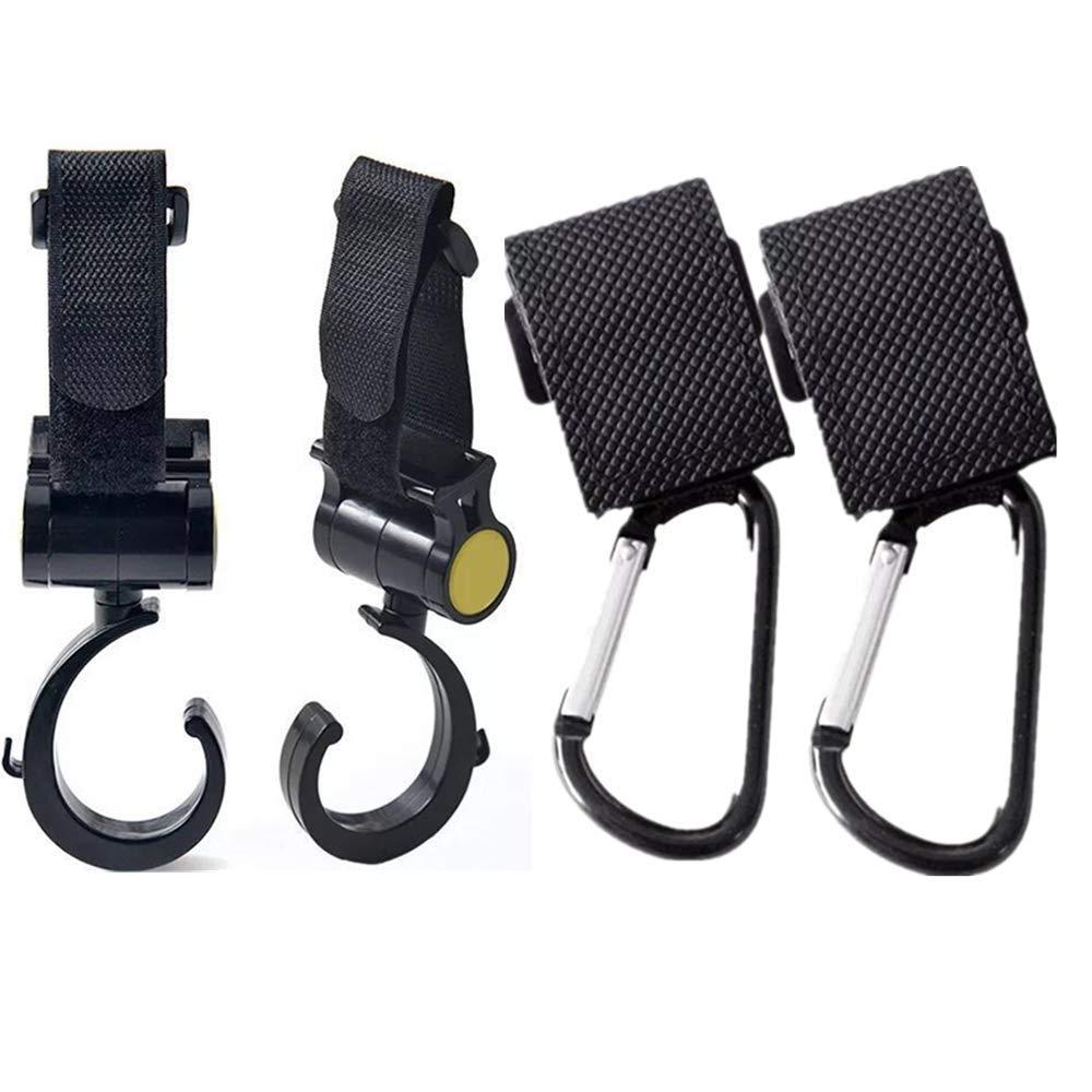2 X Universal Buggy Pram Baby Pushchair Stroller Shopping Bag Clip Hook SL