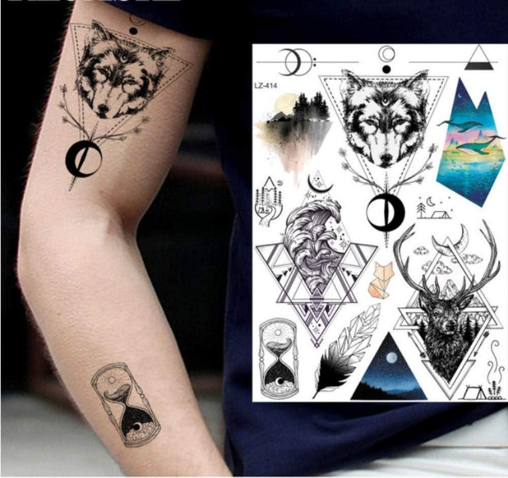 Diy realista geometría surf triángulo temporales tatuaje hombres ...