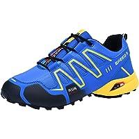 LuckyGirls Hombre Zapatillas de Correr Antideslizante Malla Color de Mezcla Casual Calzado de Deporte Transpirables Zapatos Deportivos con Cordones Moda Bambas de Running