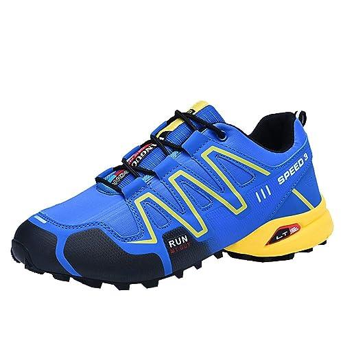Logobeing Zapatillas de Senderismo Antideslizantes Seguridad La Zapatilla de Hombre Calzado de Correr En Montaña Aire