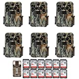 Six Browning Recon Force Advantage 20MP Trail/Game Cameras (1080p) with Twelve 16Gb Cards and Focus USB Reader