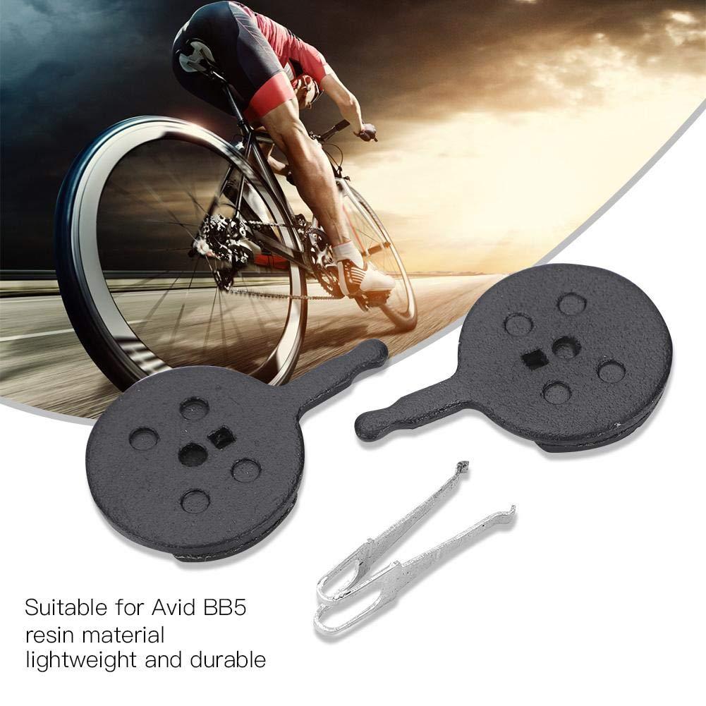 Alomejor Pastillas de Freno de Resina de Disco de Bicicleta 4 Pares con Abrazaderas de Resorte para AVID BB5 Mountain Bike