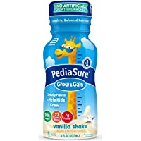 Pediasure Grow & Gain Kids' Nutritional Shake, With Protein, Dha, & Vitamins & Minerals, Vanilla, 8 fl oz, 16 Count