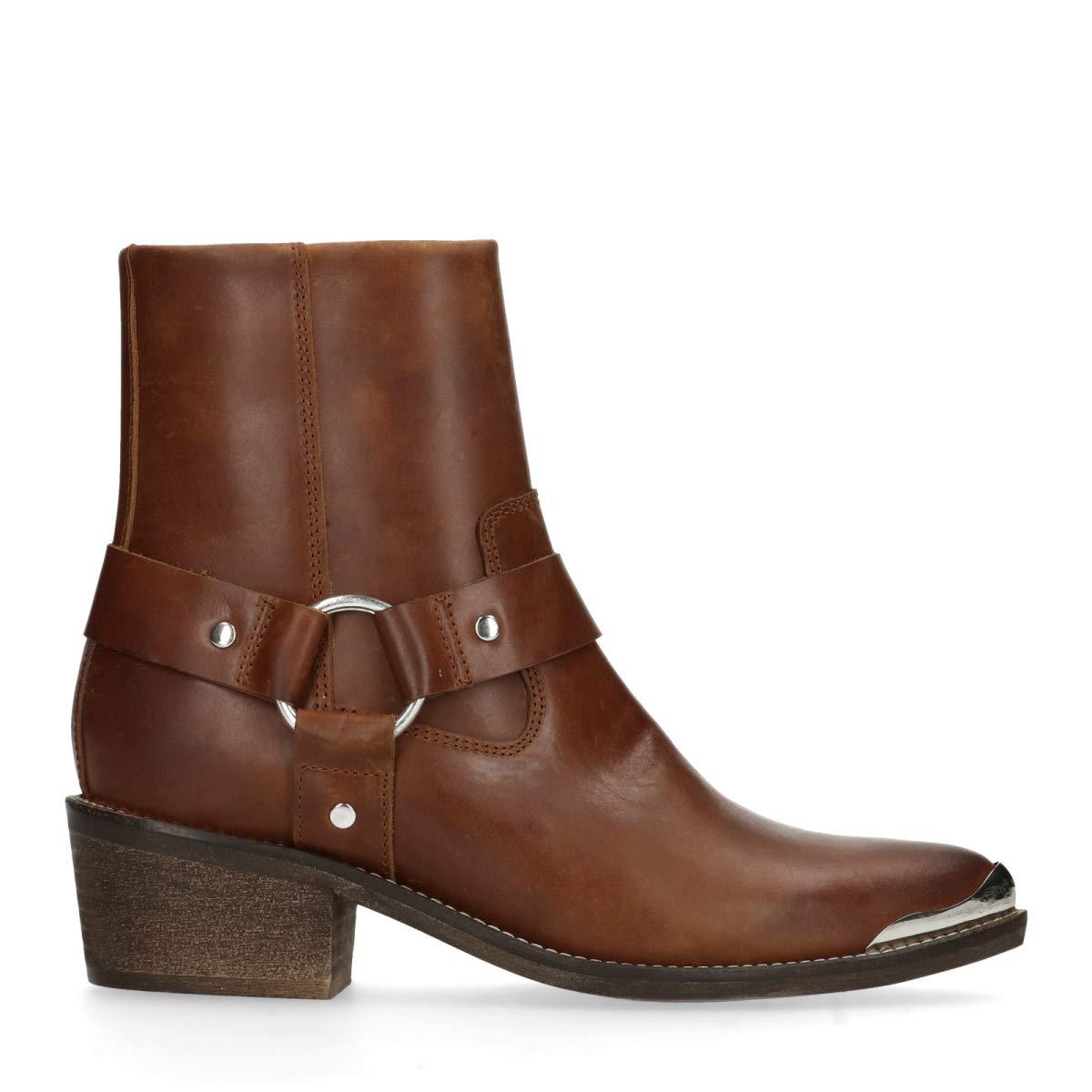 Sacha Schuhe   Damen Klassische Stiefeletten   Leder   Western   Farbe  Schwarz