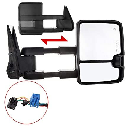eccpp towing mirror replacement fit for 2003-2006 chevrolet silverado tahoe  suburban avalanche gmc sierra