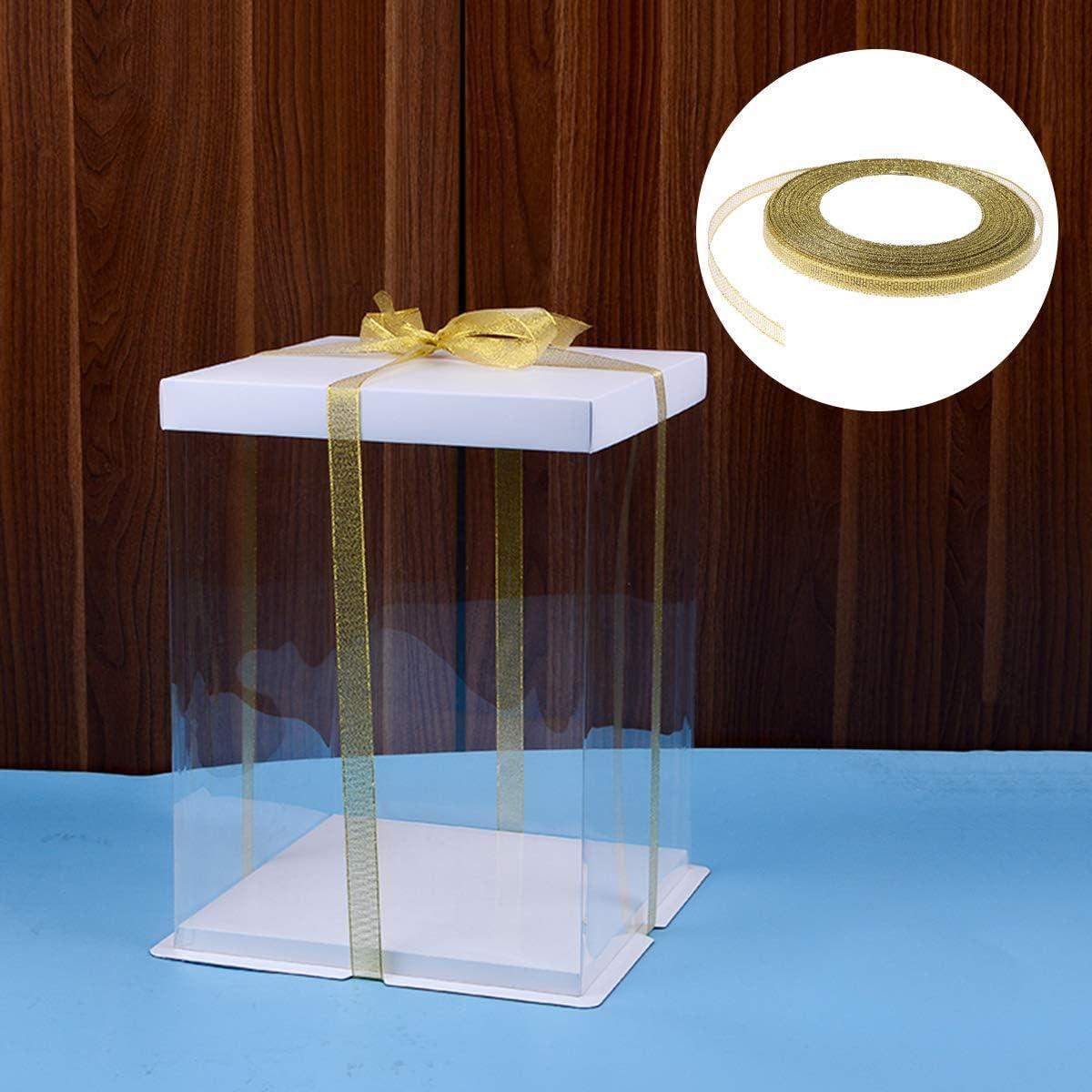 Supvox 5 ST/ÜCKE Geschenkband Seidenband Lockenband F/ür Geschenk Pr/äsentieren Ballon Handwerk 0,6 CM Golden