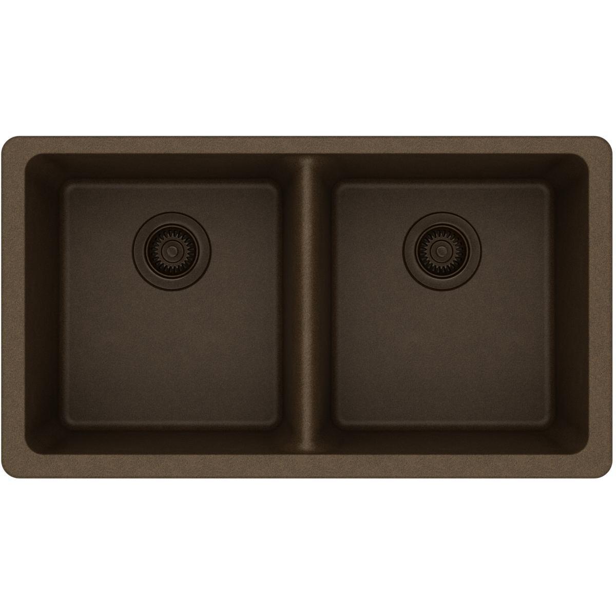 Elkay ELGU3322MC0 Gourmet Quartz Classic Undermount Sink, Mocha