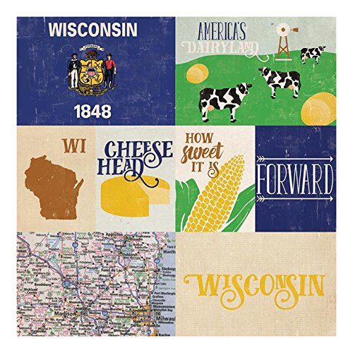 (Echo Park Paper Company Echo Park States Paper 12x12 Wisconsin)