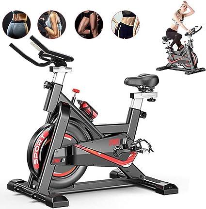 Fnova Bicicleta estática de Spinning Fitness, Profesional Bicicleta Indoor, con Monitor de frecuencia cardíaca, Pantalla LCD, Sensores de Pulso, ...