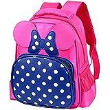 Teens Girls Candy PU Leather Backpack Bag Preschool Bag (Pink-Blue)