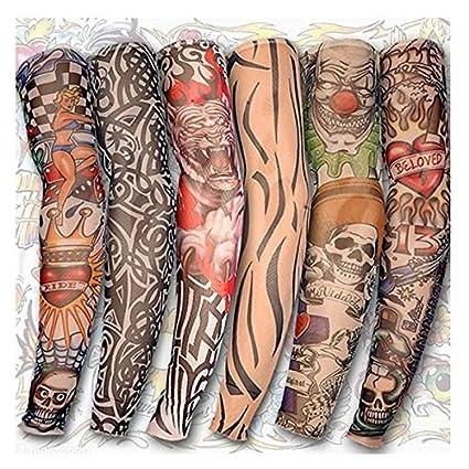 MXBIN Tatuaje de la pierna del brazo mangas de Protección Solar ...