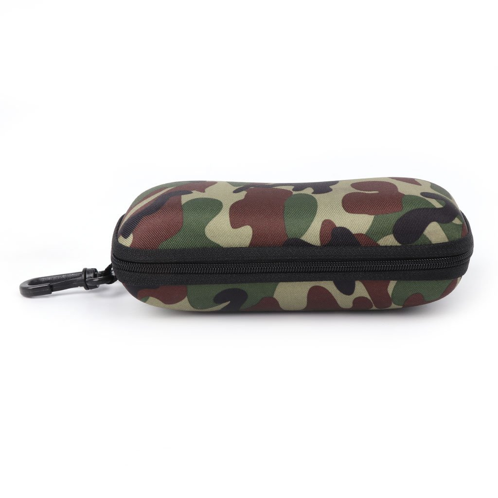 hibyebuying Glasses Box Sunglasses Case Camouflage Storage Protector Zipper Unisex Container