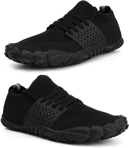 Whitin - Zapatillas de Deporte Unisex con Puntera Ancha, Minimalistas, para Correr, Color Negro, Talla 43 EU: Amazon.es: Zapatos y complementos