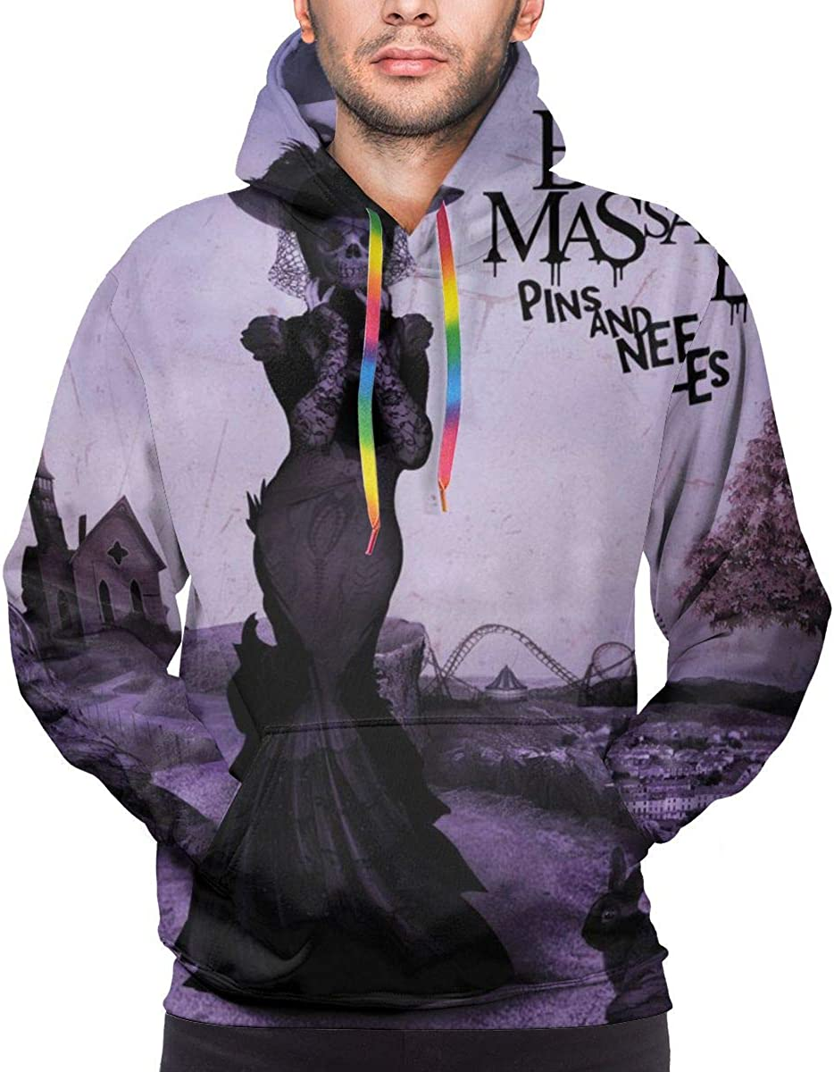 The Birthday Massacre Pins and Needles Mens Stylish 3D Print Long Sleeve Hoodie Sweatshirt