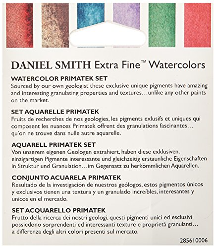 DANIEL SMITH 285610006 Extra Fine Primatek Introductory Watercolor, 6 Tubes, 5ml