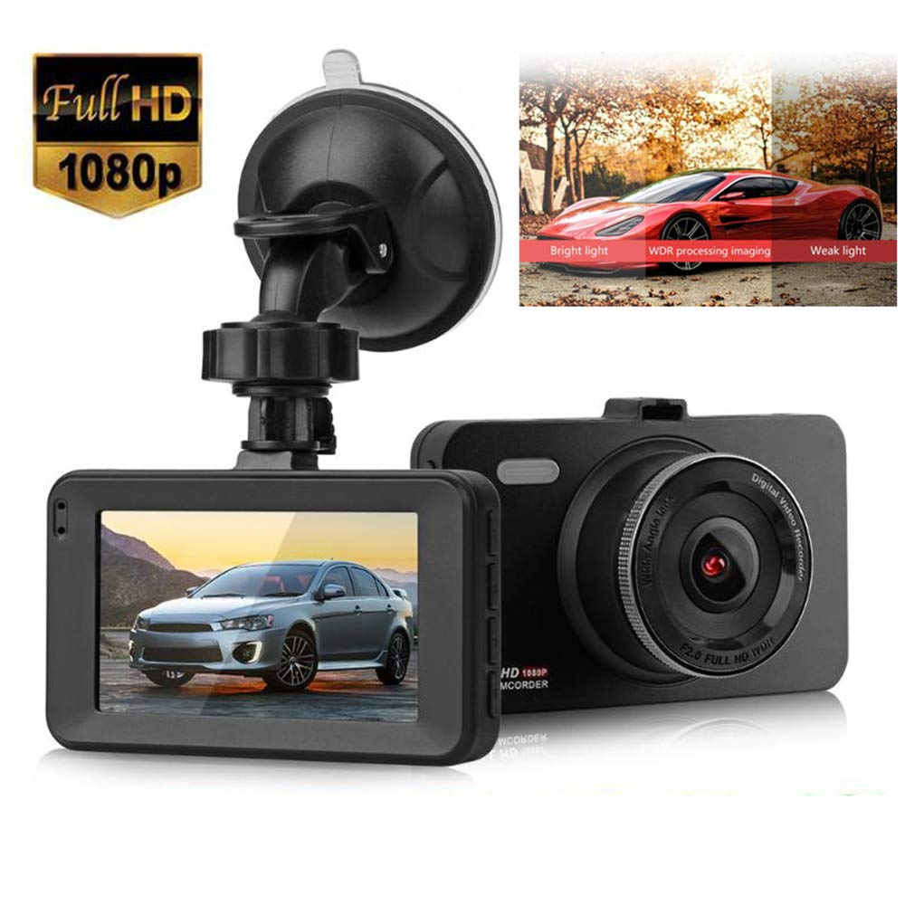 SL HD 1080P Dual Lens Car Van Dash Cam DVR Recorder 4/″ LCD With Rear Video Camera Night Vision