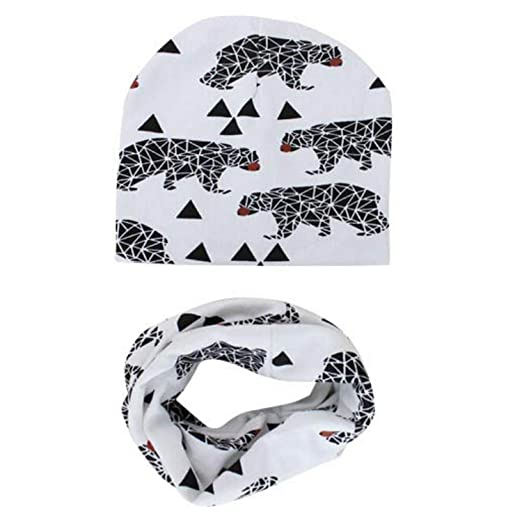 Image Unavailable. Image not available for. Color  Cotton Baby Hat Set Ice  Cream Love Print Cotton Cap Baby Hats Newborn Hat Children Scarf 3cdbb624203b