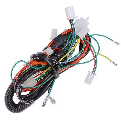 amazon com: full electric wire wiring harness for 50cc 70cc 90cc 110cc  125cc chinese atv utv quad 4 wheeler go kart taotao lifan: automotive