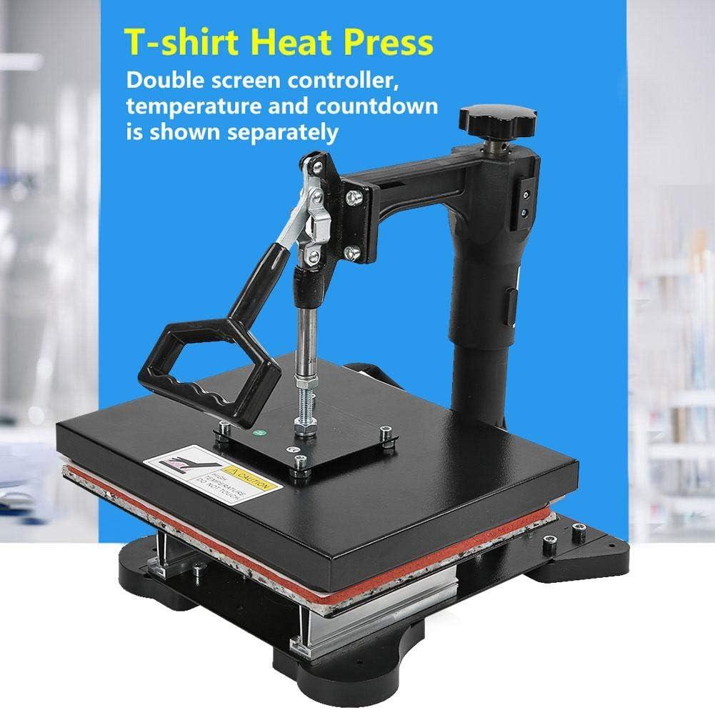 enchufe de la UE 230V para camisetas prendas de vestir M/áquina manual de prensa digital de alta presi/ón con pantalla doble 12x 10 M/áquina de prensado t/érmico alfombrillas para rat/ón