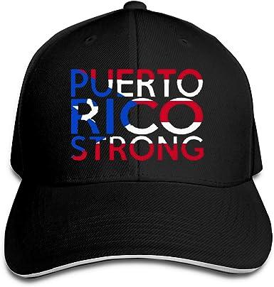 Puerto Rico Strong Unisex Baseball Cap Cotton Denim Designer Adjustable Sun Hat for Men Women Youth Black