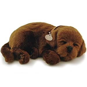 Perfect Petzzz Huggable Breathing Puppy Dog Pet Bed Chocolate Lab