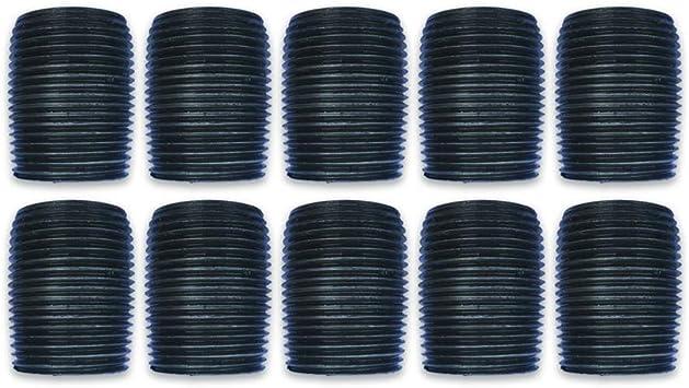 AKW 10, 3//4 x Close Black Nipple Malleable Industrial Steel Threaded Pipe Nipples and Fittings 10 Pack DIY Furniture Plumbing