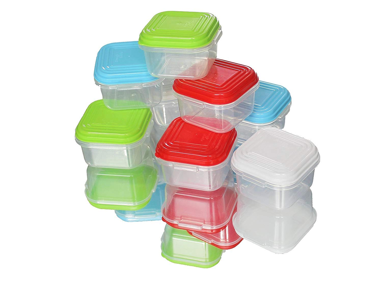 8pcs Plastic Mini Storage Boxes Baby Weaning Feeding Freezer Food Pots Containers 120 ml ARSUK
