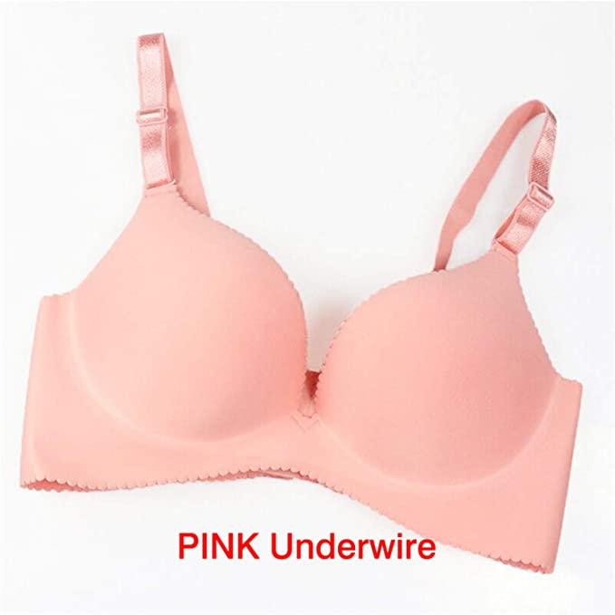 87ad08e881 Image Unavailable. Image not available for. Color  Women Super Push Up  Seamless Underwire Bra Gather Adjustable Girls SOID Lingerie Bra 6 Color Cup