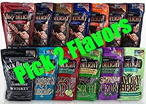 BBQrs Delight Wood Smoking Pellets - Pick 2 Flavors from legendary BBQr's Delight