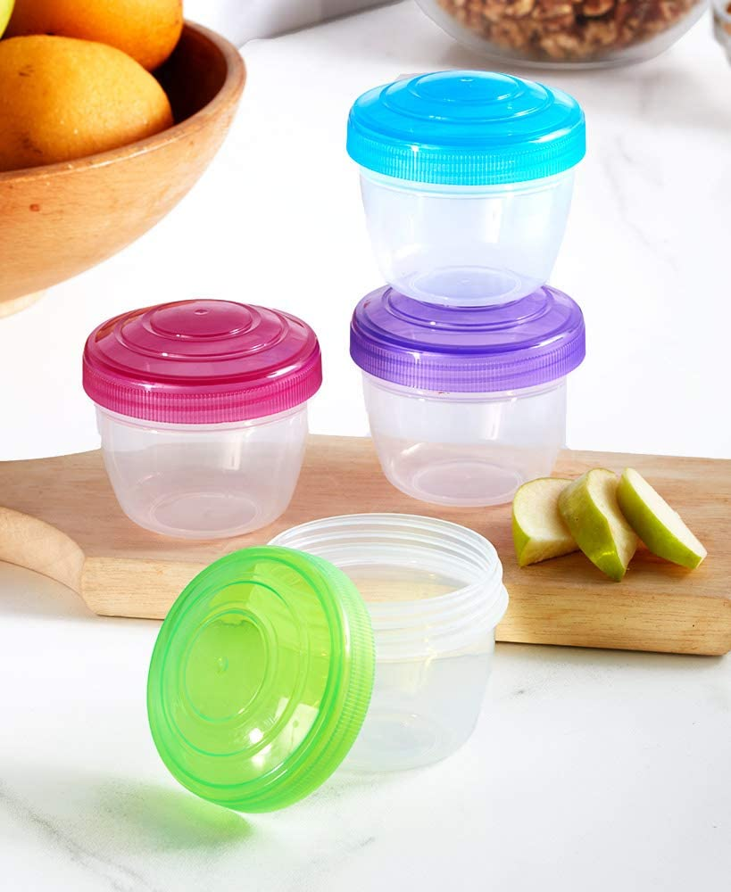Twist-Top Snack Containers - Small Food Storage - Set of 4