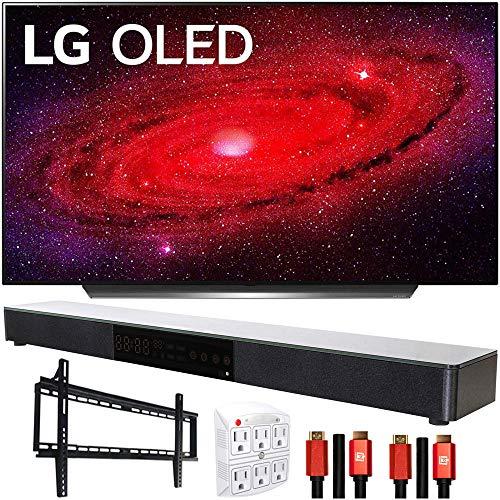 "LG OLED55CXPUA 55"" CX 4K OLED TV w/AI ThinQ (2020) with Deco Gear Soundbar Bundle"