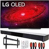 "LG OLED77CXPUA 77"" CX 4K OLED TV w/AI ThinQ (2020) with Deco Gear Soundbar Bundle"