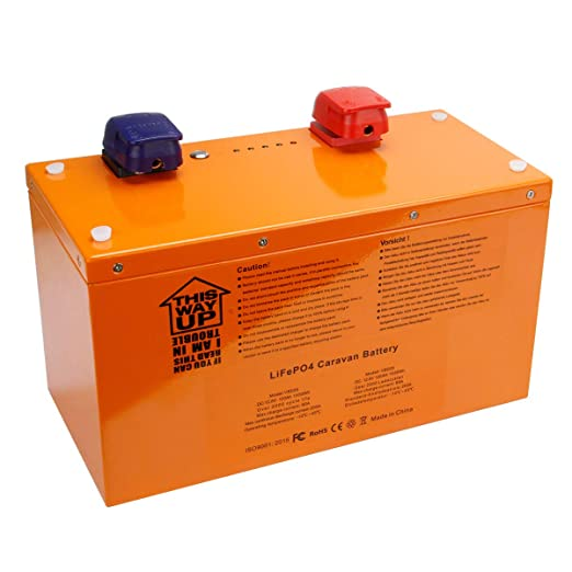 Exmate LiFePO4 - Batería para Caravana y Carrito de Golf (12,8 V ...