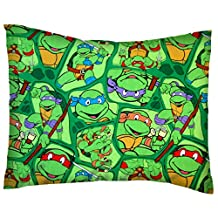 SheetWorld Crib / Toddler Percale Baby Pillow Case - Ninja Turtles - Made In USA by sheetworld
