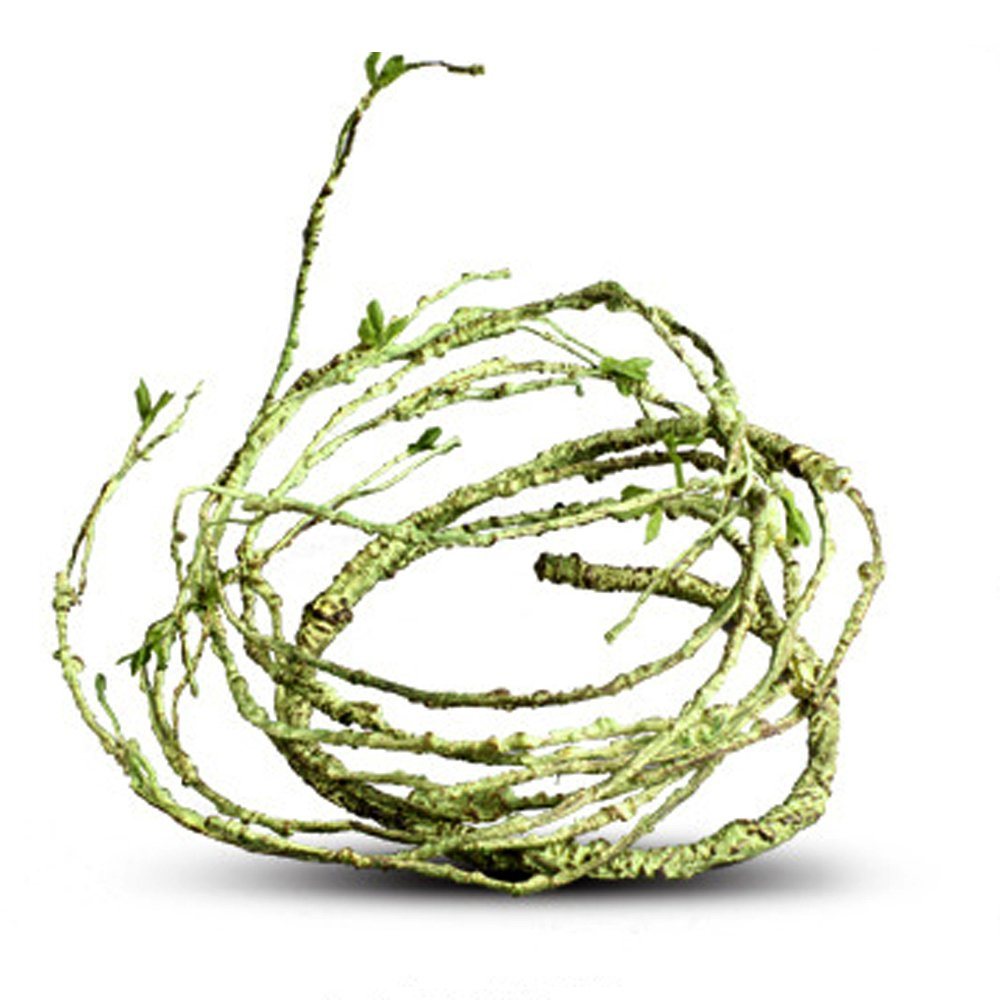 Thin Flexible Bend-A-Branch Jungle Vines Pet Habitat Decor for Lizard,Frogs, Snakes and More Reptiles (Thin)