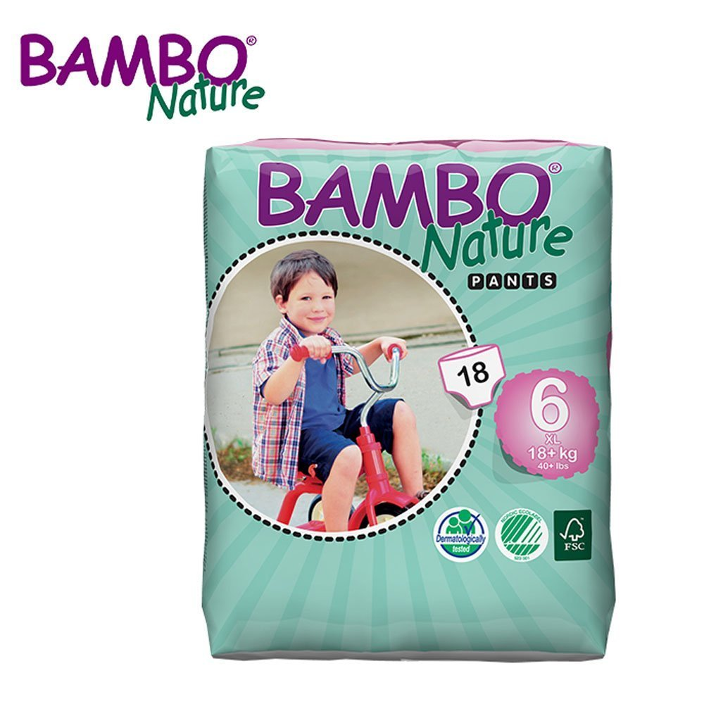 Bambo Nature XL Training Pants - Size 6 (18+ kg, 40+ lb) - Pack of 18 Abena