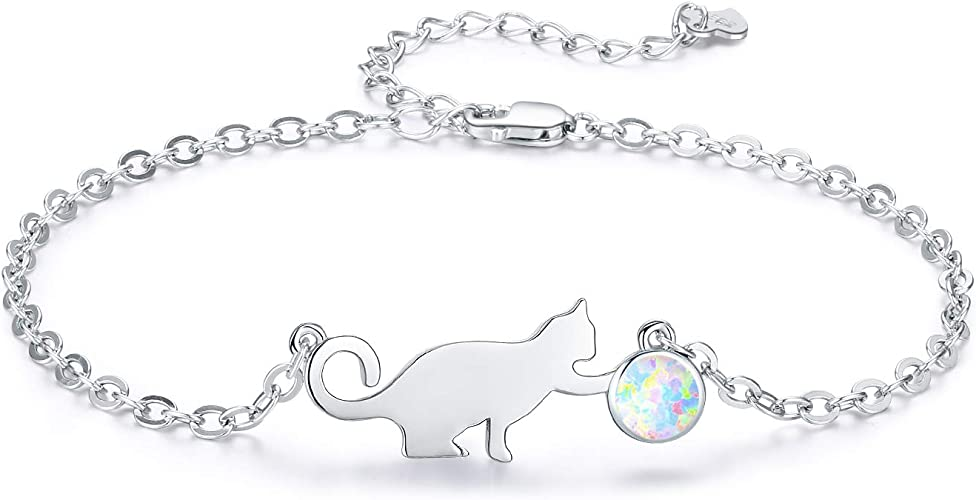 MARIE CAT PENDANT  NECKLACE 18 INCH SILVER CHAIN  GIFT BOX BIRTHDAY PARTY