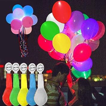 Tomkity 50 Piezas Globos Colores LED Brillante Balloon ...